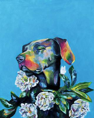 Weimaraner Painting - Fleur's Moment by Arleana Holtzmann