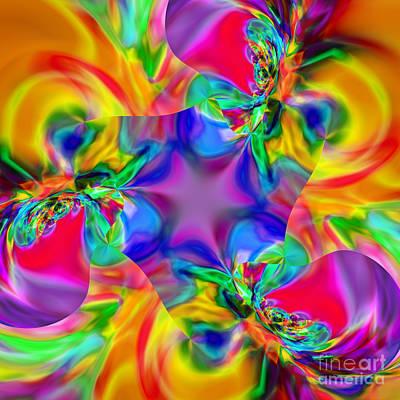 Colorful Abstract Digital Art - Flexibility 20caa by Rolf Bertram