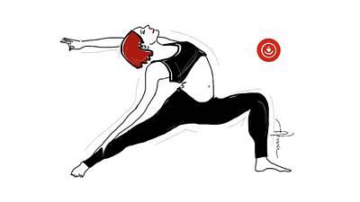 Drawing - Flexible body by Alma Ayon