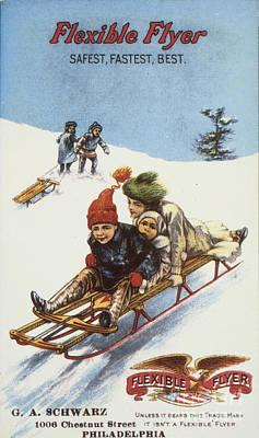 Photograph - Flexible Flyer, 1900 by Granger