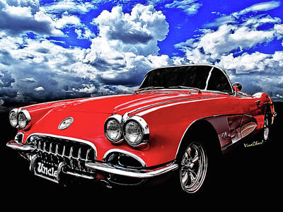 Sports Royalty-Free and Rights-Managed Images - Flexing That Corvette Muscle by Chas Sinklier