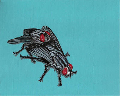 Painting - Flies by Jude Labuszewski