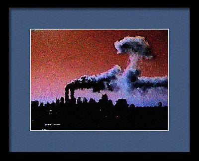 Digital Art - Flight 175 Mushroom Cloud Framed Example by James Kosior