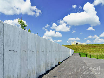 Photograph - Flight 93 - Wall Of Names by John Waclo