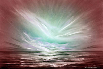 Tropical Art Painting - Flight At Sunset - Abstract Sunset by Gina De Gorna