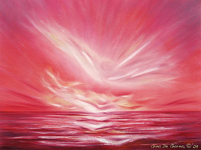 Painting - Flight At Sunset by Gina De Gorna