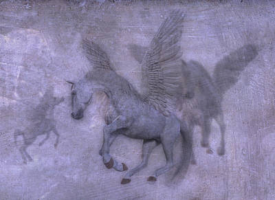 Pegasus Wall Art - Digital Art - Flight by Betsy Knapp