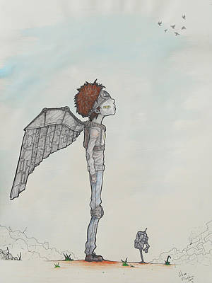 Science Fiction Drawing - Flight by Chase Fleischman