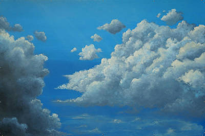 Storm Clouds Painting - Flight by Emily Magone