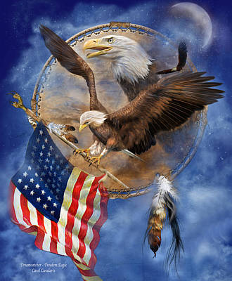 Eagle Mixed Media - Flight For Freedom by Carol Cavalaris