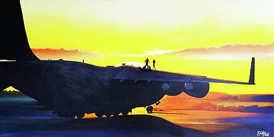 Iraq Painting - Flight Hours by David Powers