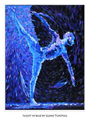 Painting - Flight In Blue Poster by Glenn Tunstull