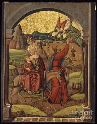 Kingdom Painting - Flight Into Egypt Master Of The Schretlen by MotionAge Designs