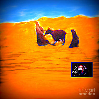 Digital Art - Flight Into Egypt by Richard W Linford