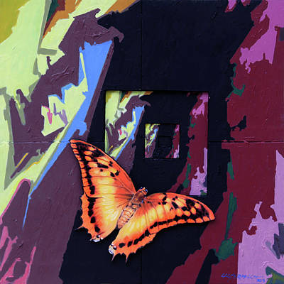 Painting - Flight Into Eternity by John Lautermilch
