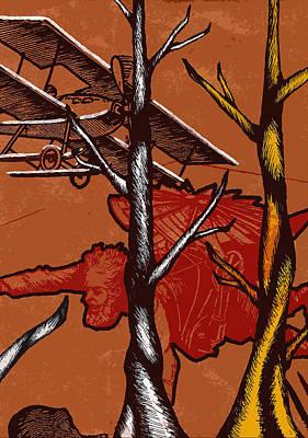Tree Abstracts Drawing - Flight  by Jeff DOttavio