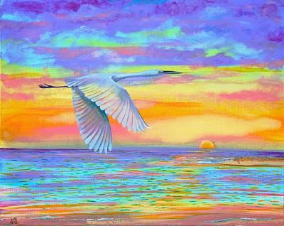 Flight Of Color Art Print