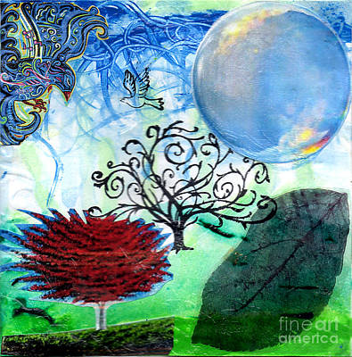 Fantasy Tree Art Mixed Media - Flight Of Fancy by Genevieve Esson