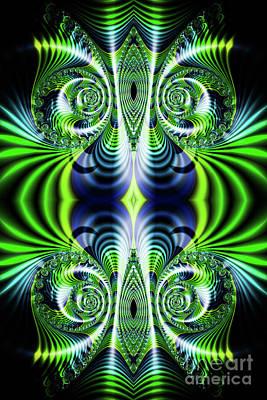 Digital Art - Flight Of Fancy Green by Steve Purnell
