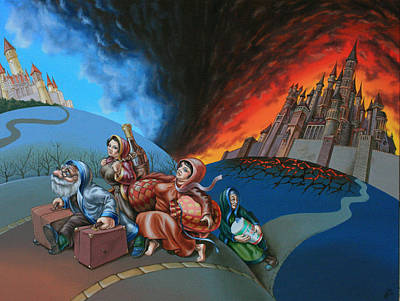 Flight Of Lot Out From Sodom Art Print