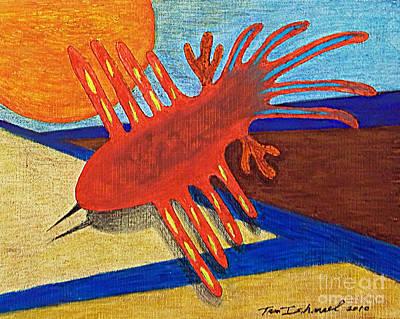 Mix Medium Drawing - Flight Of The Ancients by Tammy Ishmael - Eizman