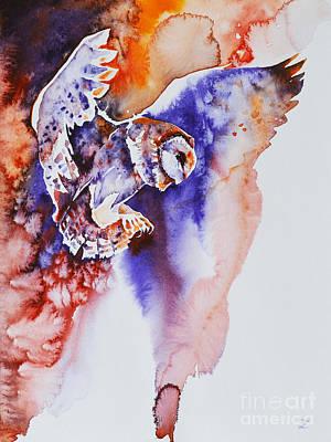 Painting - Flight Of The Barn Owl by Zaira Dzhaubaeva