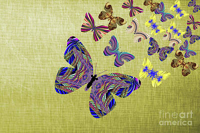 Digital Art - Flight Of The Butterflies by Steve Purnell