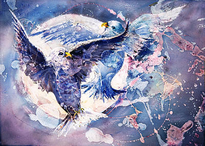 Painting - Flight Of The Doves by Connie Williams