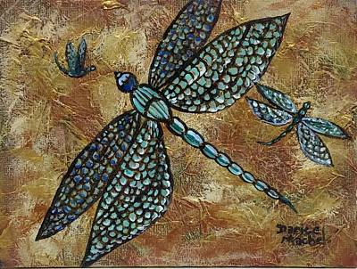 Painting - Flight Of The Dragonflys by Darice Machel McGuire