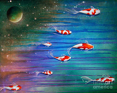 Flight Of The Eventide Print by Cindy Thornton