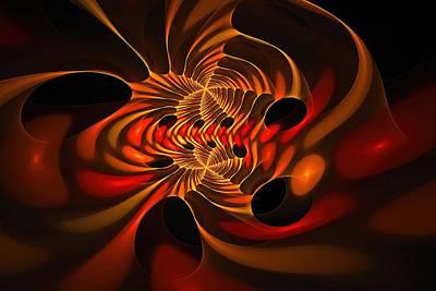 Digital Art - Flight Of The Fractal Phoenix by Doug Morgan