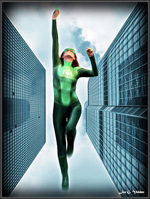 Photograph - Flight Of The Green Lantern by Jon Volden