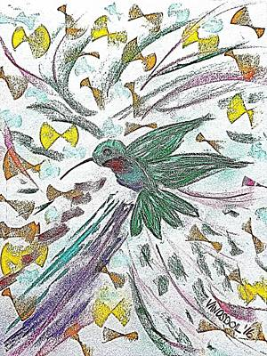 Flight Of The Hummingbird - Penciled  Original by Scott D Van Osdol
