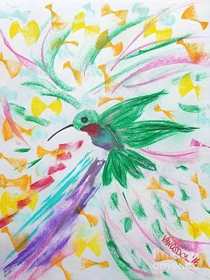 Flight Of The Hummingbird Original by Scott D Van Osdol