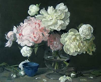Painting - Flight Of The Peonies by Robert Holden
