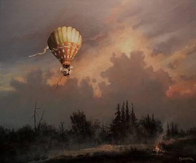 Flight Of The Swan 3 Art Print by Tom Shropshire