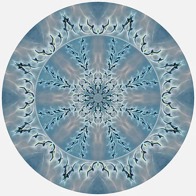 Digital Art - Flight Of The Tundra Swan Mandala by Beth Sawickie