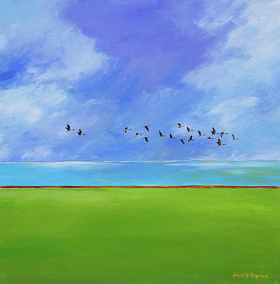 Painting - flight over Erie  by David Maynard