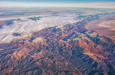 Photograph - Flight Over Nevada Mountains by Marc Crumpler