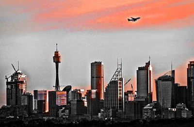 Photograph - Flight Over Sydney by Miroslava Jurcik