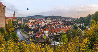 Flight Over The Medieval Town Art Print by Dmytro Korol