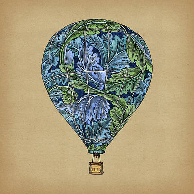 Balloon Painting - Flight Pattern by Meg Shearer