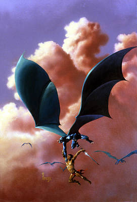 Sorcerer Painting - Flight by Richard Hescox