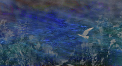 Mixed Media - Flight-seascape by Mike Breau