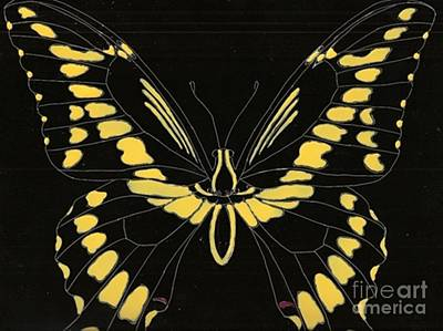 Flight Series 11 Yellow Tail Art Print by Iamthebetty Tbone