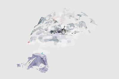 Digital Art - Flight Thru The Clouds by Debbi Saccomanno Chan