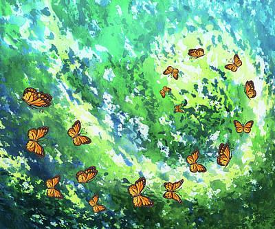 Painting - Flight To Eternity by Irina Sztukowski