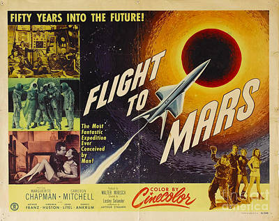 Painting - Flight To Mars 1951 Sci Fi Movie Poster by R Muirhead Art