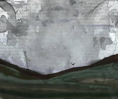 Mixed Media - Flight Under Grey Skies by Lenore Senior