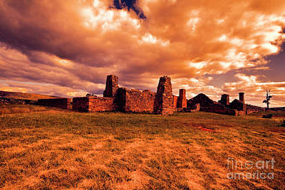 Art Print featuring the photograph Flinders Ranges Ruins by Douglas Barnard